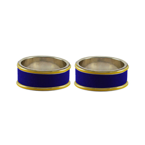 Blue Color Metal Plain Bangle - ban7820