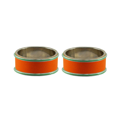 Orange Color Metal Plain Bangle - ban7829