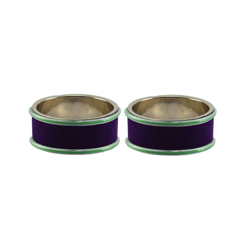Purple Color Metal Plain Bangle - ban7830