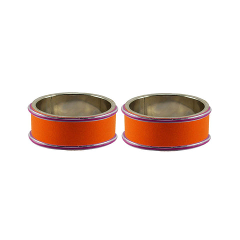 Orange Color Metal plain Bangle - ban7893