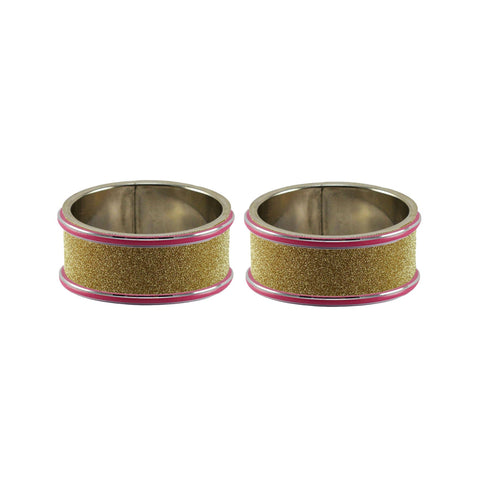 Golden Color Metal Plain Bangle - ban7940