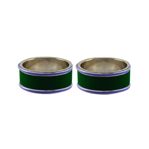 Green Color Metal Plain Bangle - ban7943
