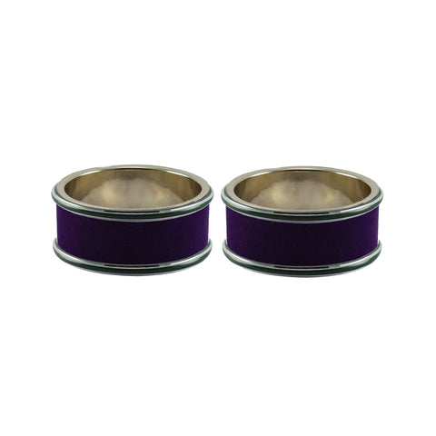 Purple Color Metal Plain Bangle - ban7958