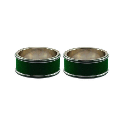 Green Color Metal Plain Bangle - ban7959
