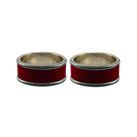 Maroon Color Metal Plain Bangle - ban7962