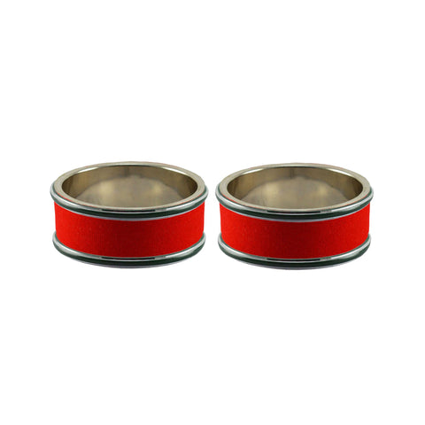 Red Color Metal Plain Bangle - ban7965