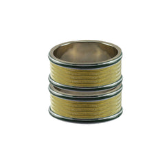 Golden Color Metal Plain Bangle - ban7969