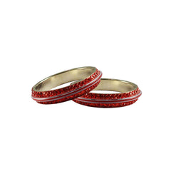 Buy Red Color Metal Stone Stud Bangle