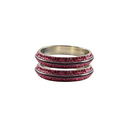Pink Color Metal Stone Stud Bangle - ban7986
