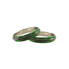 Buy Green Color Metal Stone Stud Bangle