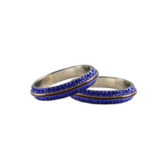 Buy Blue Color Metal Stone Stud Bangle