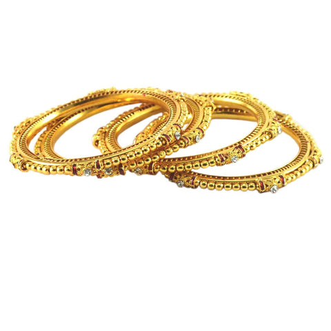 Golden Color Gold Platted Acrylic-Brass Bangle - ban925