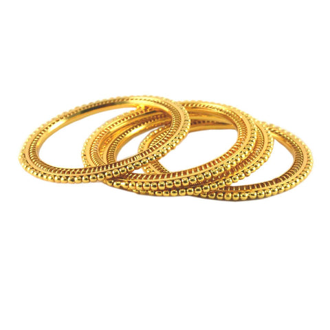 Golden Color Gold Platted Acrylic-Brass Bangle - ban926