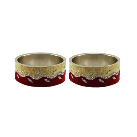 Multi Color Stone Stud Brass Bangle - ban9395