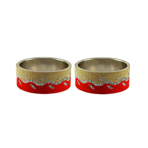 Multi Color Stone Stud Brass Bangle - ban9396