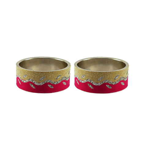 Multi Color Stone Stud Brass Bangle - ban9397