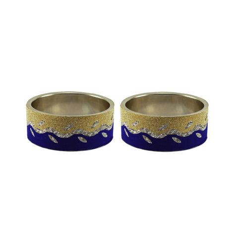Multi Color Stone Stud Brass Bangle - ban9403