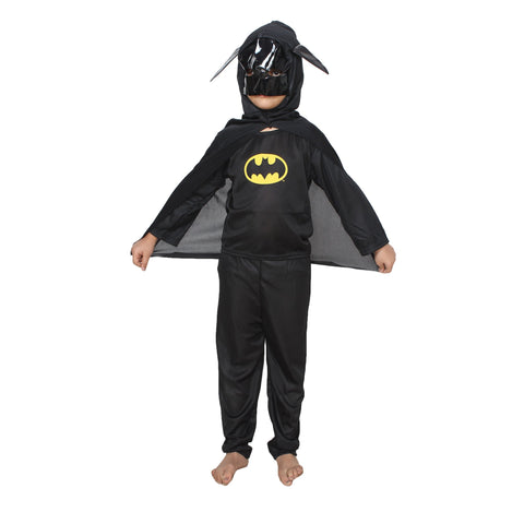 Black Color Cotton Blend Fancy Costume Dress  - batman-1