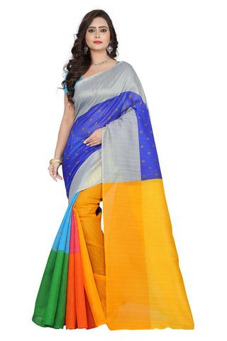 Multi Colorfull Color Bhagalpuri Saree - bg-colorfull-1