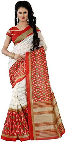 Orange Color Bhagalpuri Saree - bg-orange-1