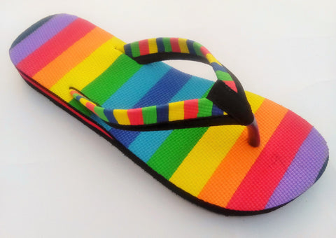 Multi Color Rubber Sandals - bhavya-502