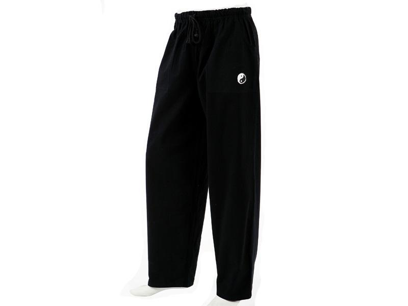 Buy Black Color Cotton Woven Wringled Organic Pant