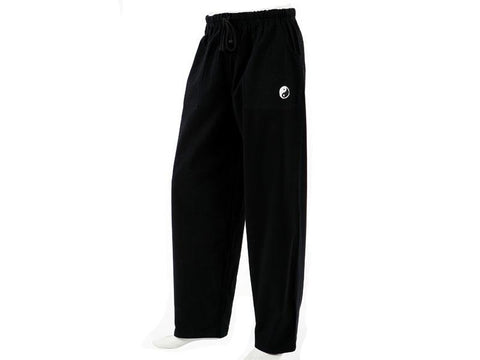 Black Color Cotton Woven Wringled Organic Pant - black