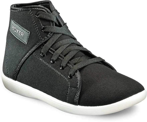 Black Color Synthetic Mens Sneaker - black-boxer-corpus