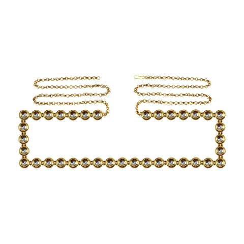 Golden Color Brass Kunudun Stud-Gold Platted Waist Chain - bro1374