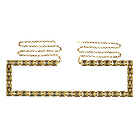Golden Color Brass Kunudun Stud-Gold Platted Waist Chain - bro1388