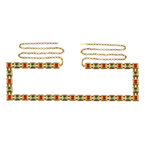 Golden Color Brass Kunudun Stud-Gold Platted Waist Chain - bro1392