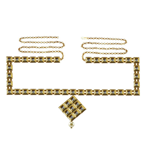Golden Color Brass Kunudun Stud-Gold Platted Waist Chain - bro1395