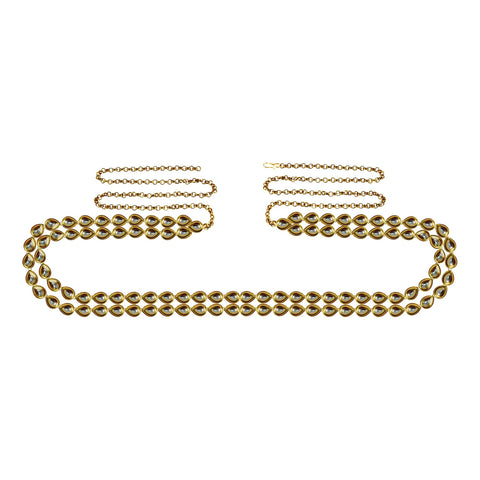 Golden Color Brass Kunudun Stud-Gold Platted Waist Chain - bro1402
