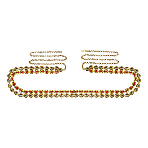 Golden Color Brass Kunudun Stud-Gold Platted Waist Chain - bro1406
