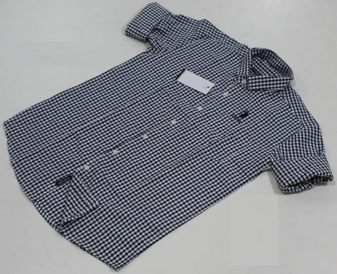 Blue & White Checked Pure Cotton Shirt -USPS-13