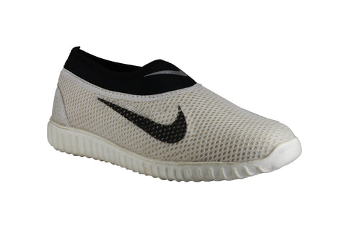 White Color  Synthetic Mesh Men Shoe - caesar-5