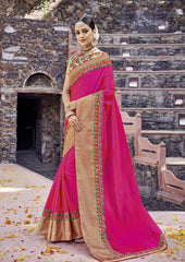 Magenta Color Silk Saree