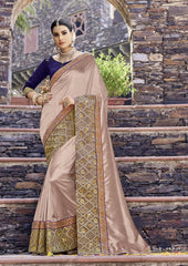 Brown Color Silk Saree