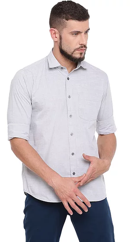 UNITED CLUB Men's White Plain Cotton Shirt - club-24