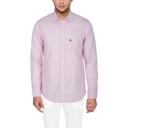 D'INDIAN CLUB Men's Pink Plain Cotton Causal Shirt - club-6