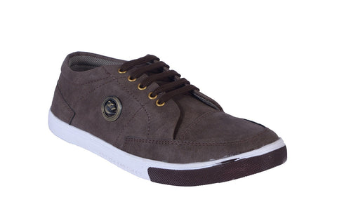 Brown Color Denim Men Shoe - coffeebakkal