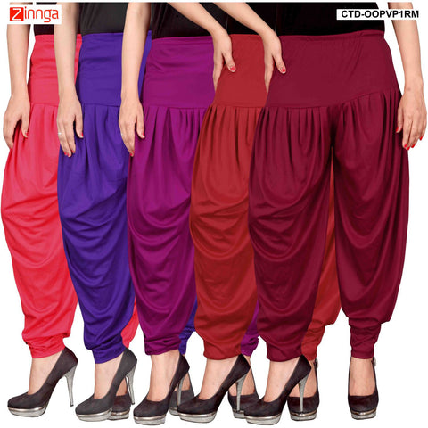 CULTURE THE DIGNITY-Women's Stylish CasualWear Lycra Patiala Pants(Pack Of 5) - ctd-00PVP1RM-1