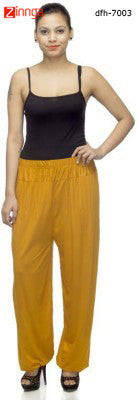 DEEFASHIONHOUSE-Women's Beautfiul  EthnicWear LemonYellow Viscose Lycra  Sticthed Harem Pants - dfh-7003