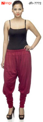 DEEFASHIONHOUSE- Women's Beautiful Maroon Viscose Lycra Stitched Jodhpurs - dfh-7772