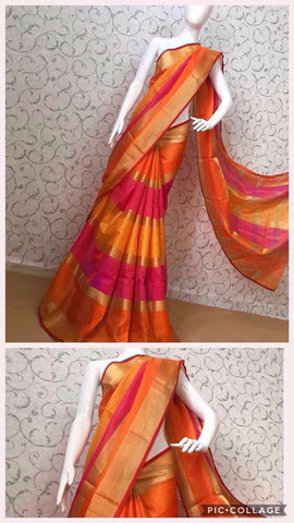 Multi Color Cotton Saree - doriya-17