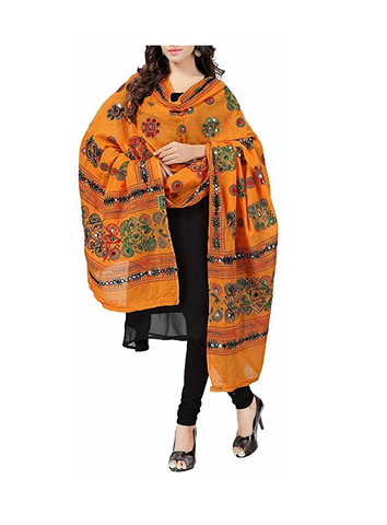 Mustard Color Cotton Women's Dupatta - dpmustard