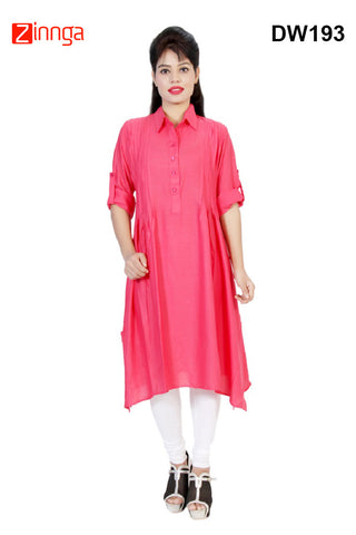 DESIWAKHRA-Women's Beautiful Rayon Kurtis - dw193