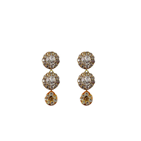 Multi Color Stone Stud-Handmade Lac Pure Lakh Earring - ear495