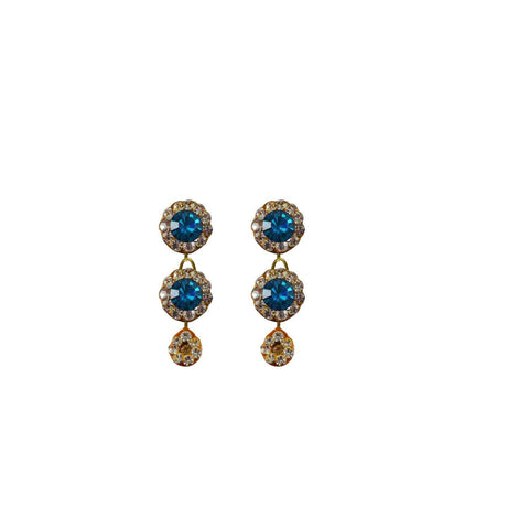 Multi Color Stone Stud-Handmade Lac Pure Lakh Earring - ear496