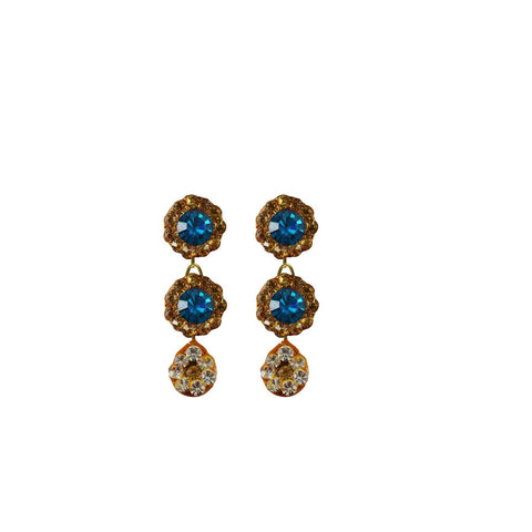 Multi Color Stone Stud-Handmade Lac Pure Lakh Earring - ear497